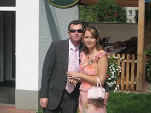 na svatbě švagrové v září 2006