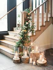 na výzdobu schodov