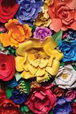 strop bude ozdobený papierovými kvetmi