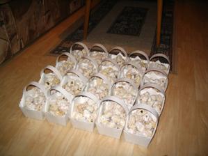 koláčky rozdělené...vyšlo nám přesně 27 kousků do jednoho ;-)