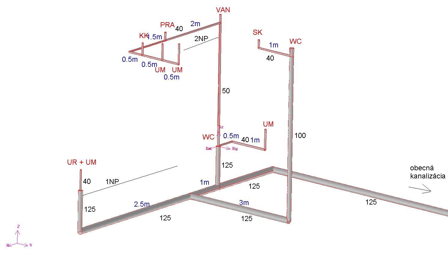Vodár mi práve realizuje kanalizáciu v podkrovnom dome. Rozmýšľame nad vhodným odvetraním resp. privzdušnením  vnútornej kanalizácie. Nerád by som išiel s odvetraním cez strechu (plechová, falcovaná, 15° sklon). Vie niekto poradiť, kde je najvhodnejšie dať odvetranie a aké? - Obrázok č. 1