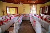 Svadobné prestieranie v reštaurácii