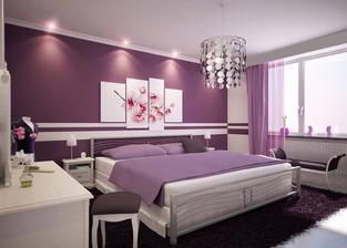 inšpirácia do spálne, ale toto mi už asi neprejde tolko fialovej ..ale napad s vyfarbením steny mozno prejde :)