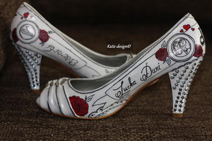 Svadobné a iné ručne maľované topánky - Obrázok č. 11
