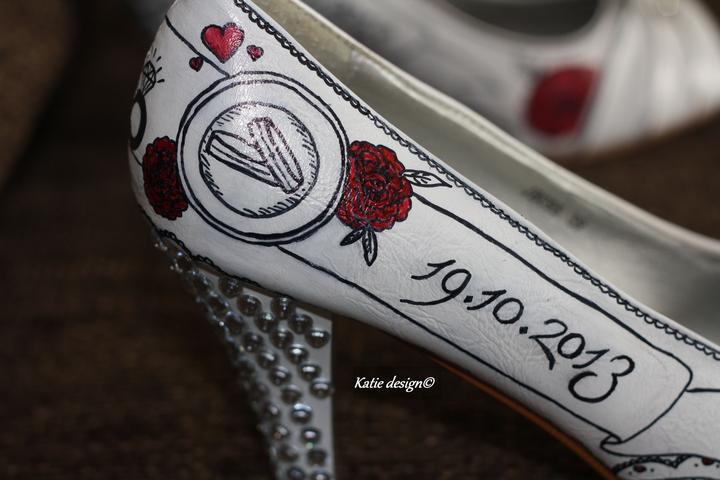 Svadobné a iné ručne maľované topánky - Obrázok č. 12