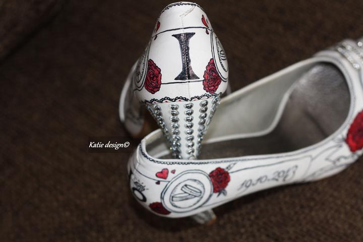 Svadobné a iné ručne maľované topánky - Obrázok č. 14