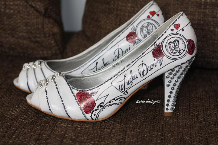 Svadobné a iné ručne maľované topánky - Obrázok č. 16