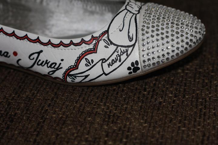 Svadobné a iné ručne maľované topánky - Obrázok č. 19