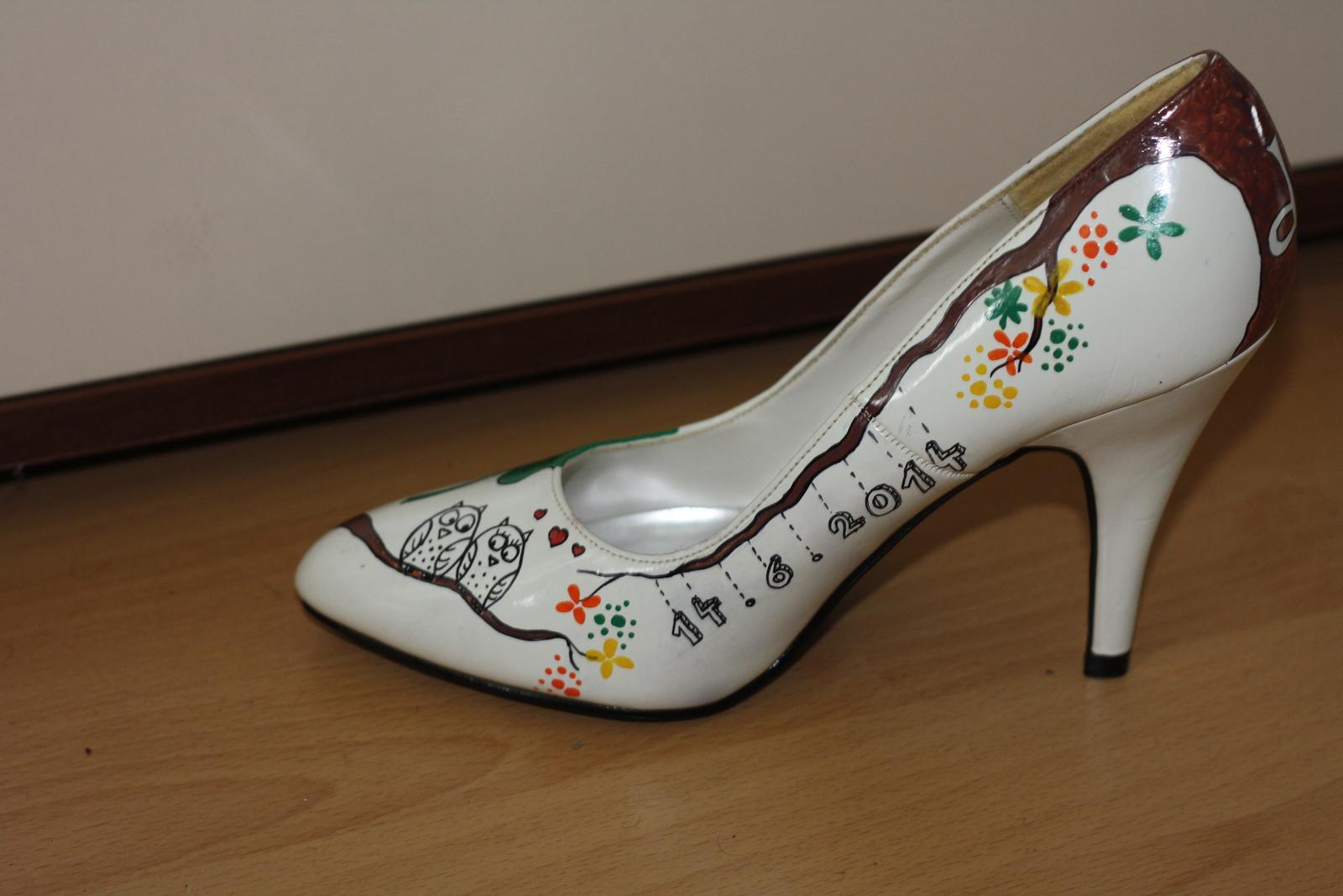 Svadobné a iné ručne maľované topánky - Obrázok č. 26