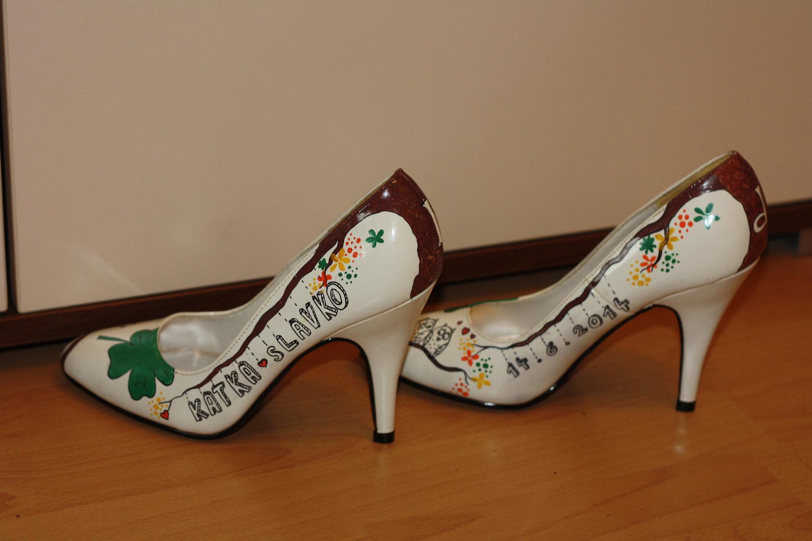 Svadobné a iné ručne maľované topánky - Obrázok č. 27