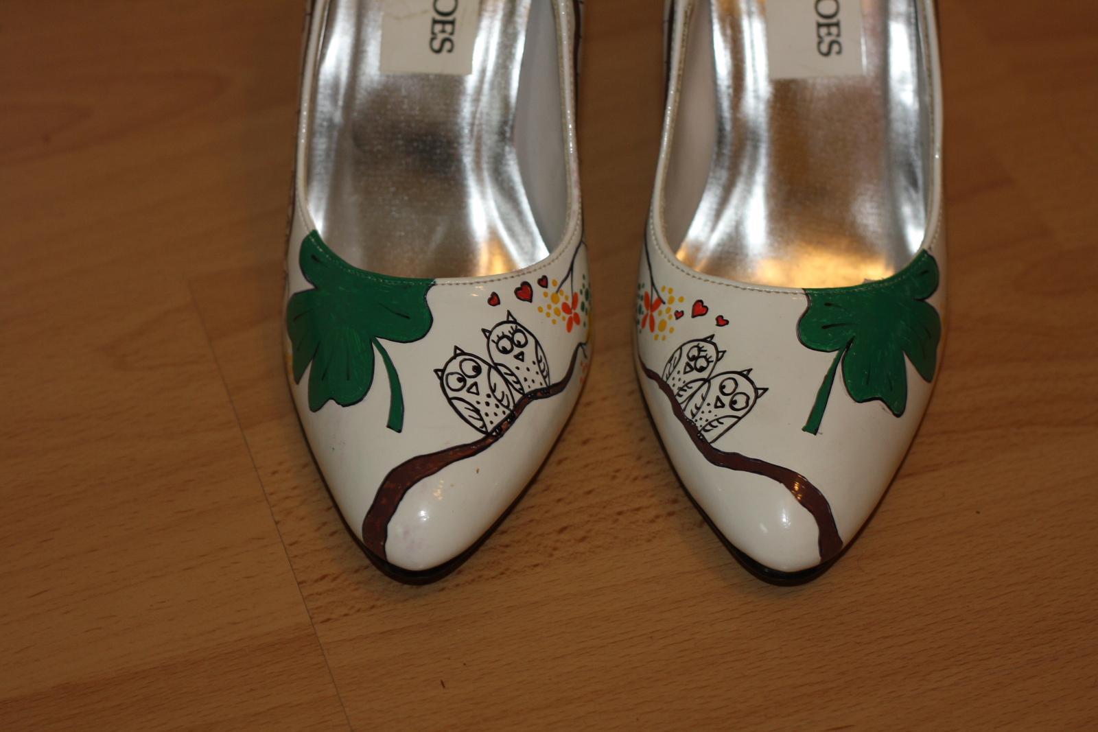 Svadobné a iné ručne maľované topánky - Obrázok č. 28