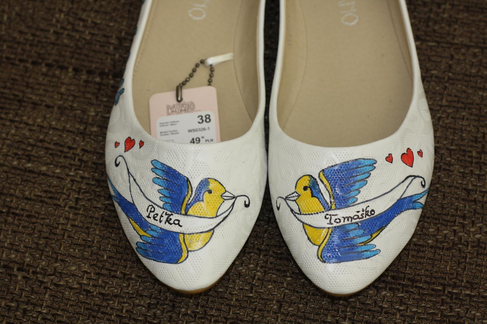 Svadobné a iné ručne maľované topánky - Obrázok č. 29