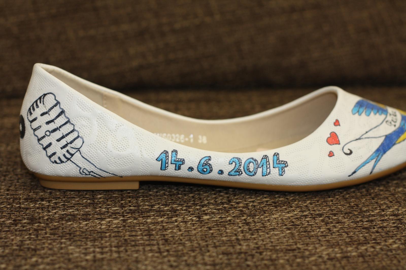 Svadobné a iné ručne maľované topánky - Obrázok č. 31