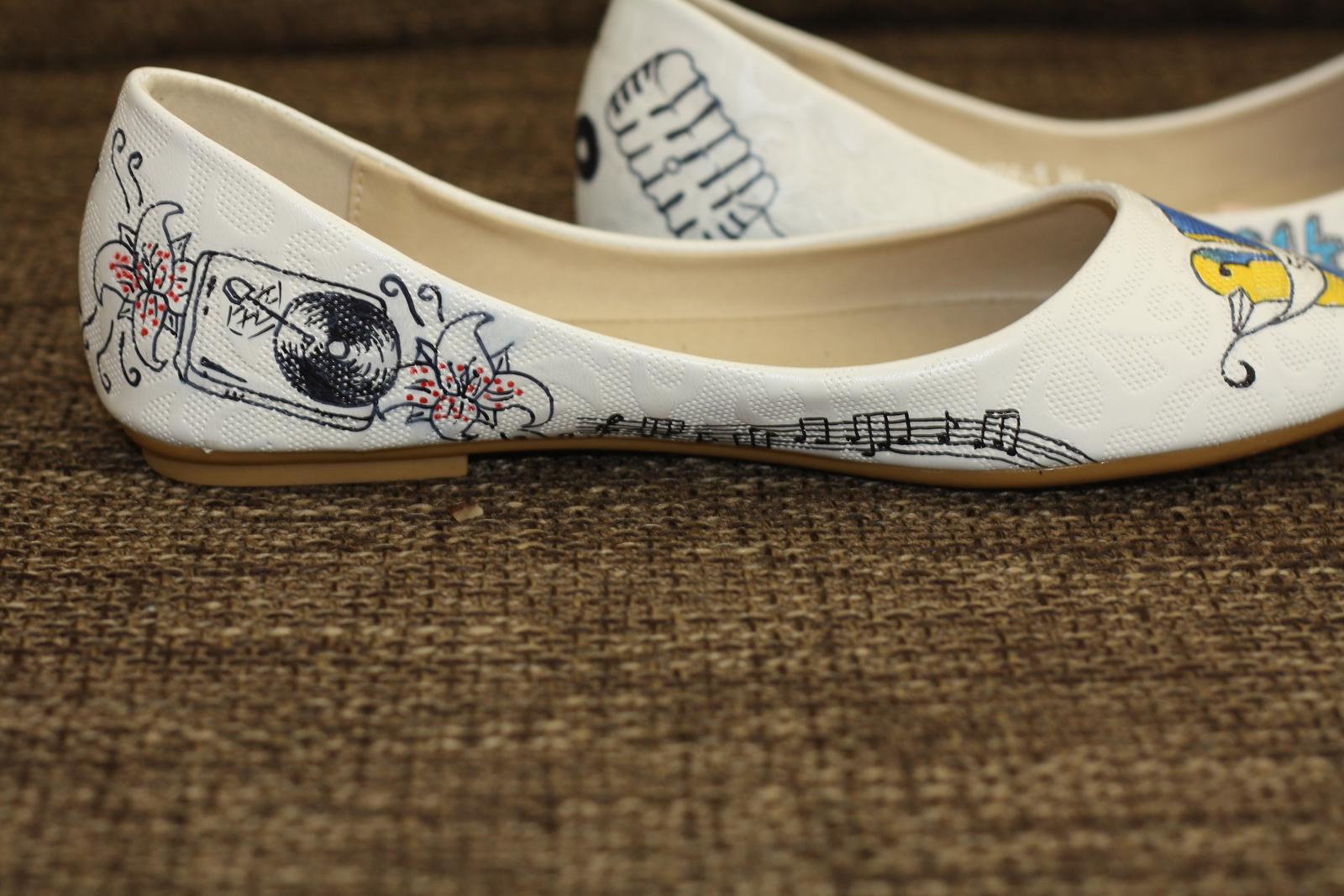 Svadobné a iné ručne maľované topánky - Obrázok č. 32