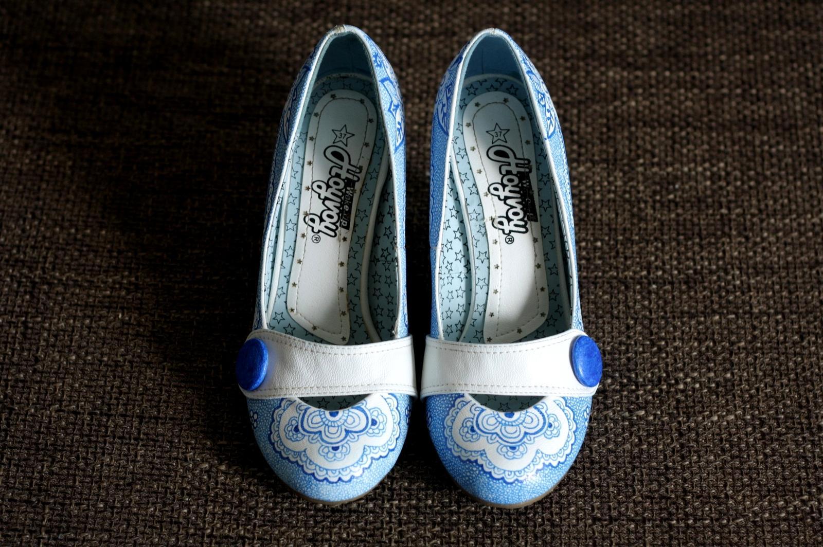 Svadobné a iné ručne maľované topánky - Obrázok č. 7