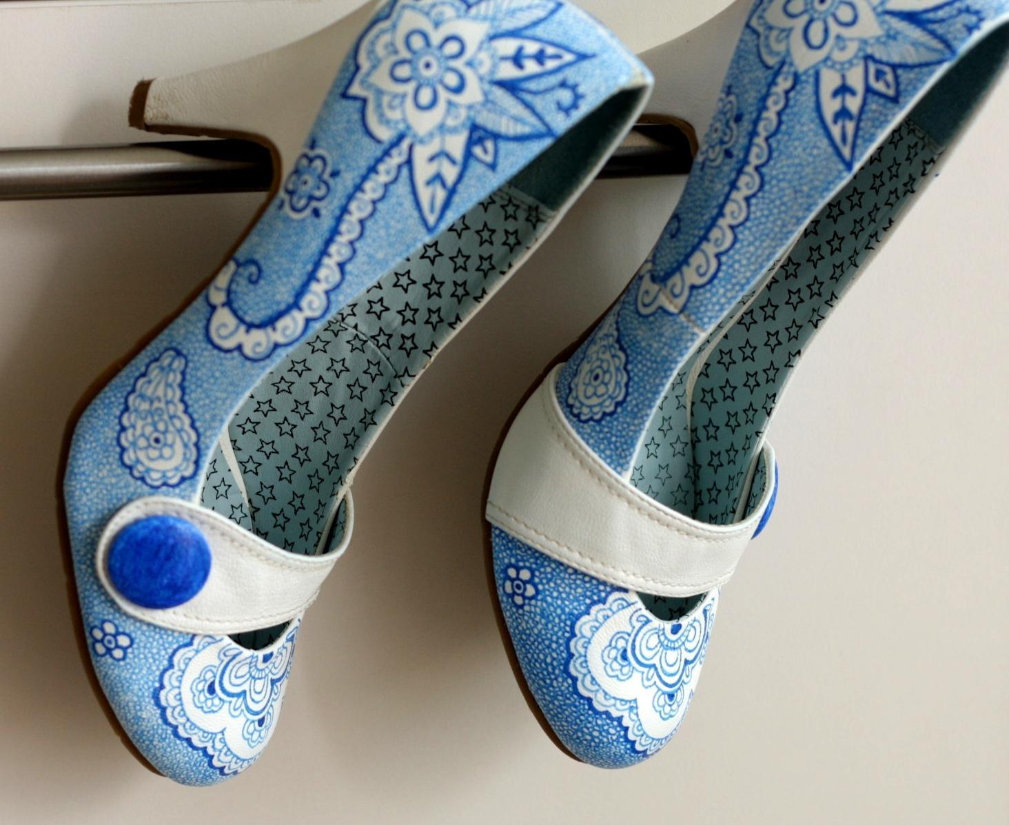 Svadobné a iné ručne maľované topánky - Obrázok č. 8