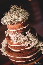 naked cake musel byt, plneny mascarpone kremom s lesnym ovocim, mnamka