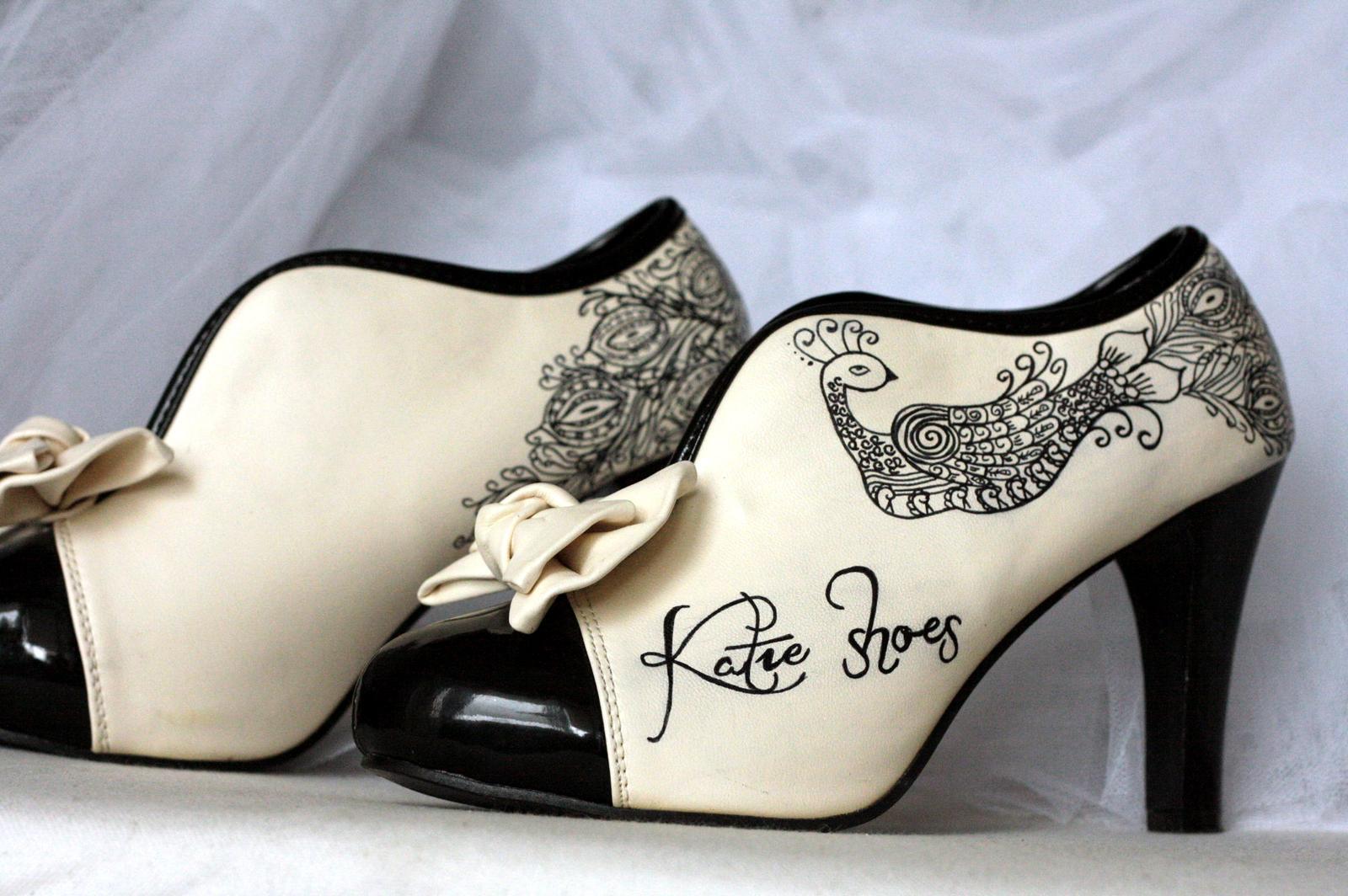 Svadobné a iné ručne maľované topánky - Obrázok č. 9