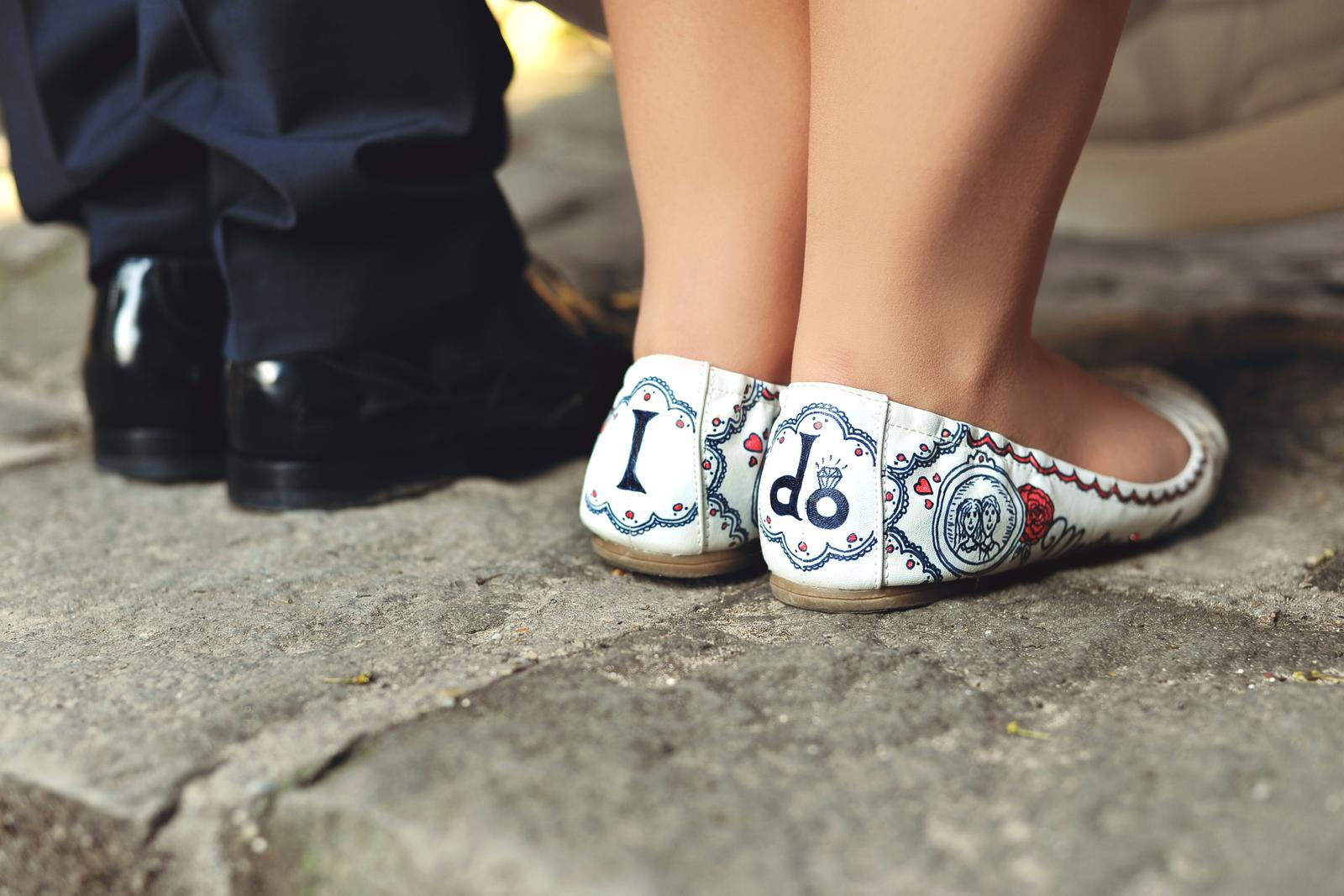 Svadobné a iné ručne maľované topánky - Obrázok č. 2