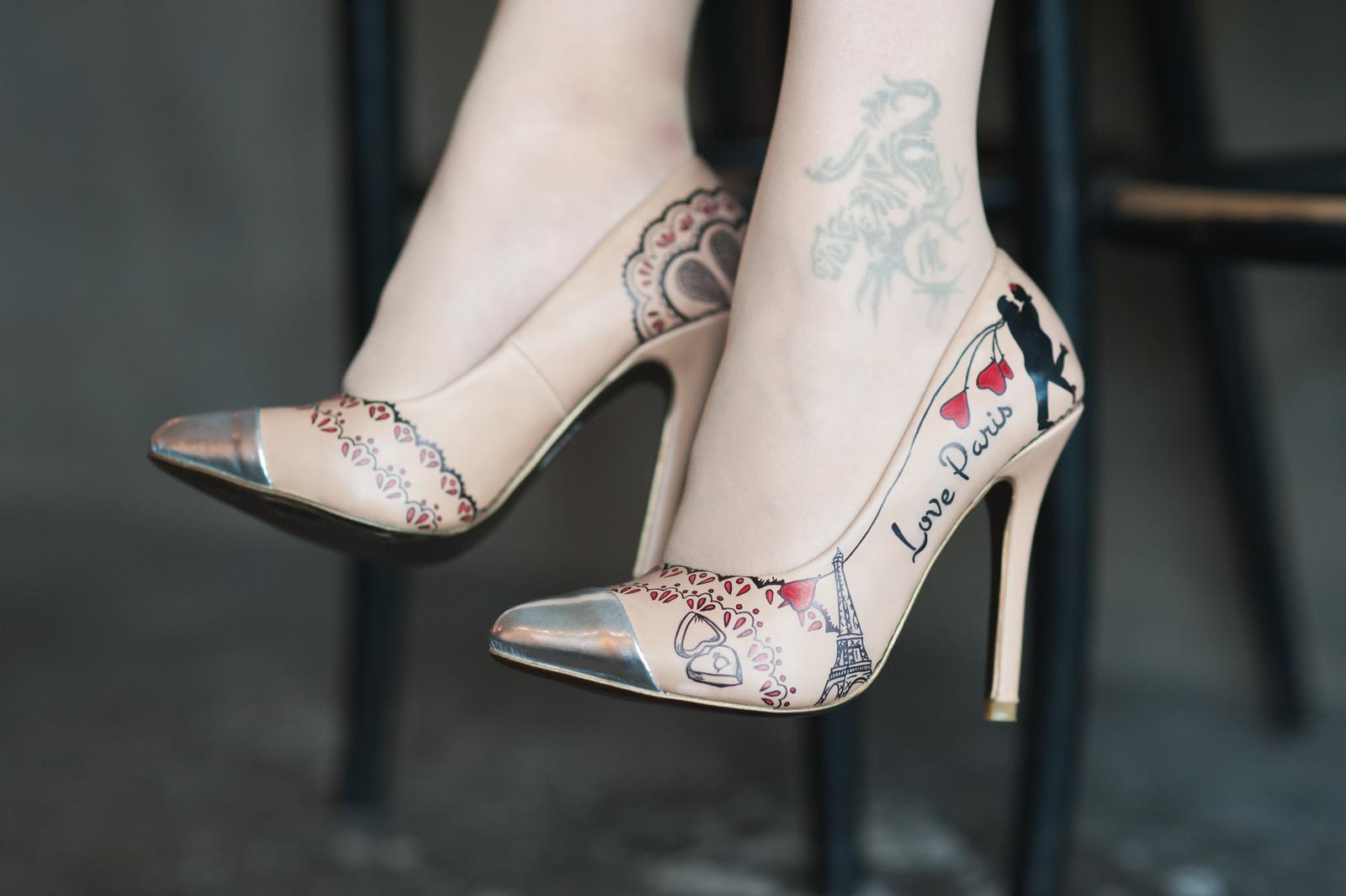 Svadobné a iné ručne maľované topánky - Obrázok č. 34