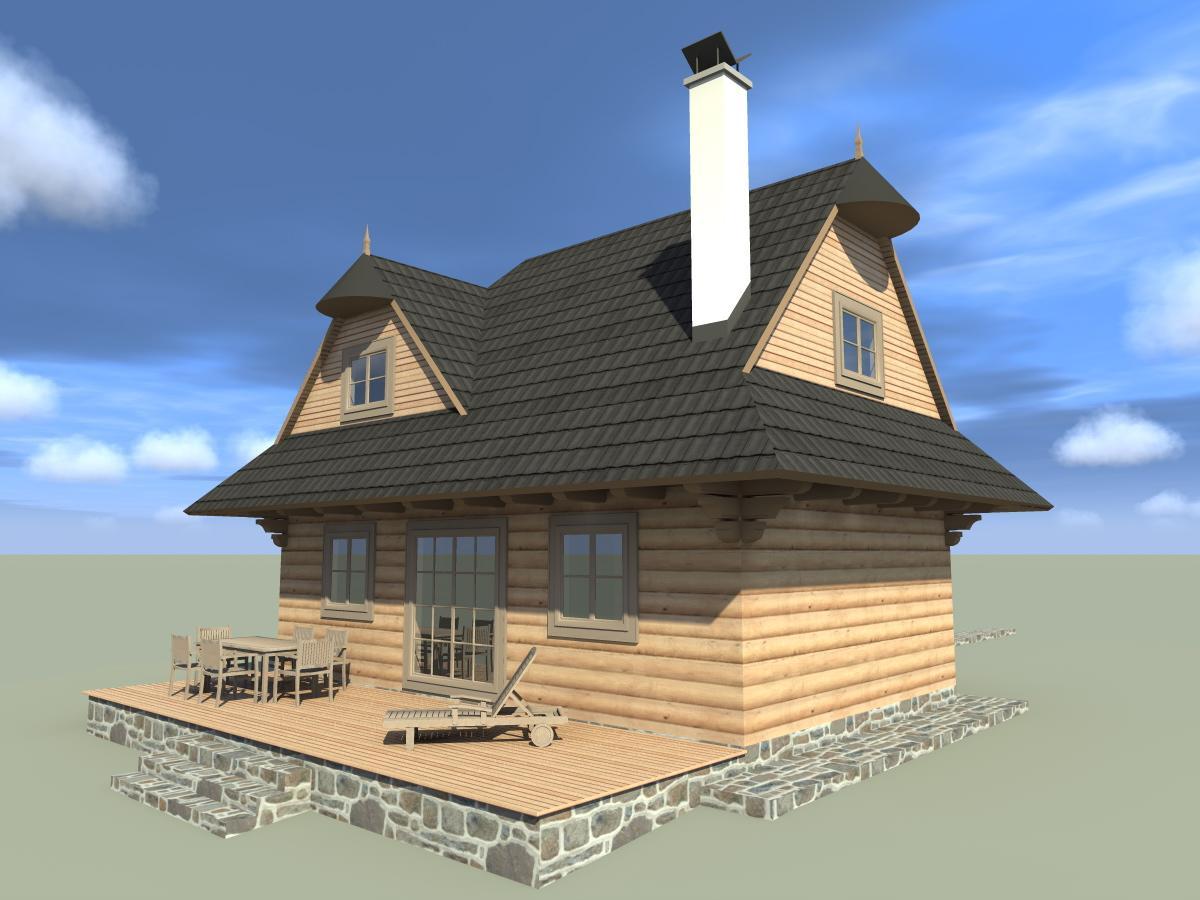 Náš veľký sen o drevenom domčeku! - A takto nejak bude vypadať!