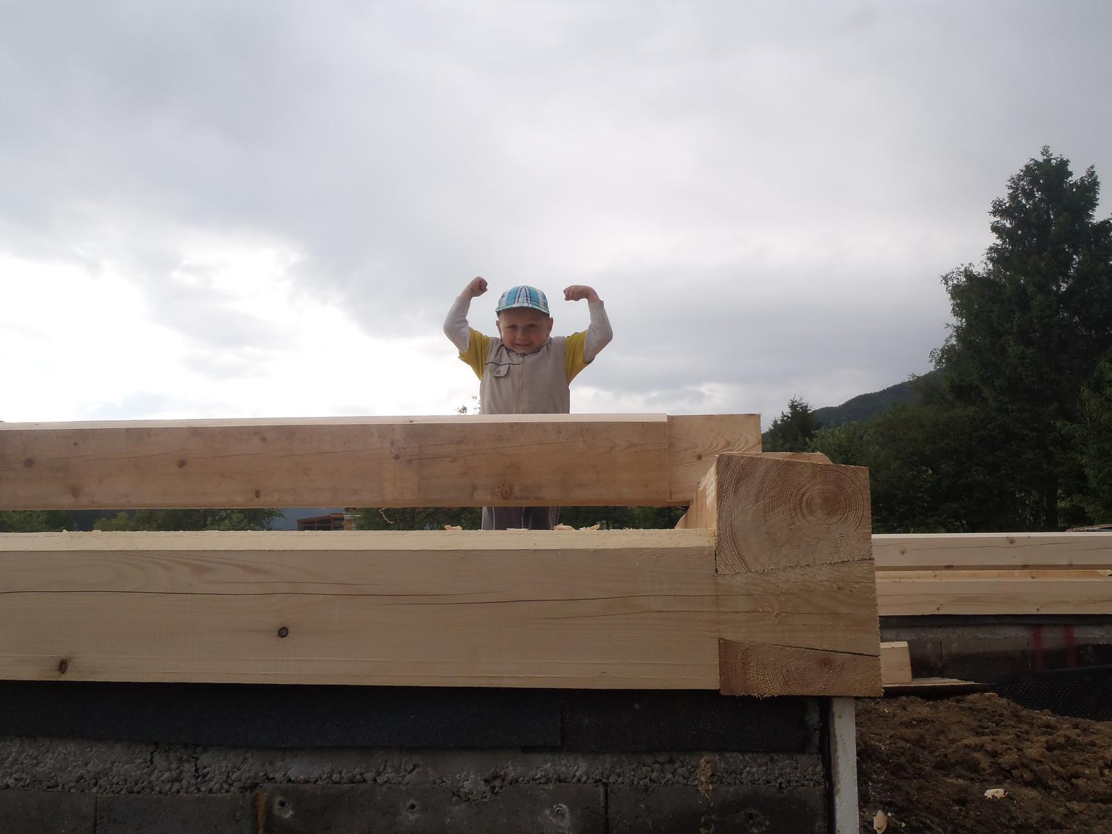 Náš veľký sen o drevenom domčeku! - Takéto mám svaly :-D