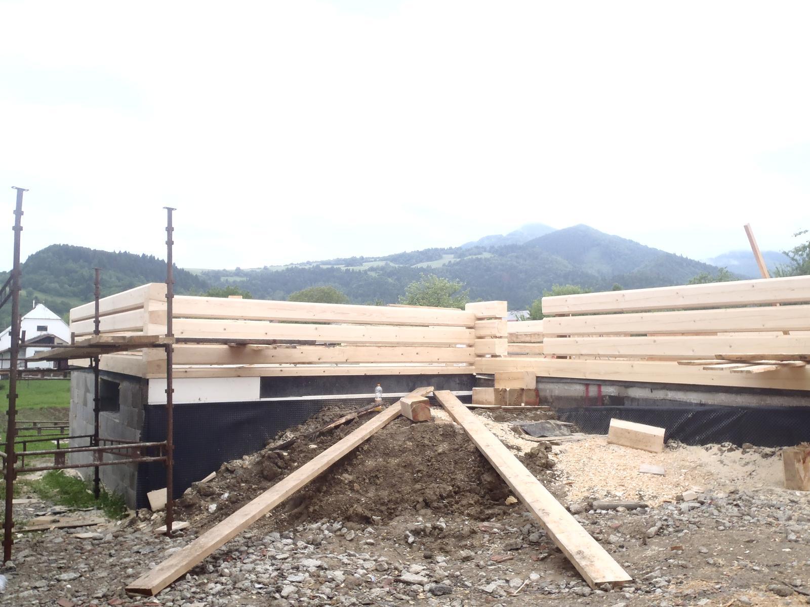 Náš veľký sen o drevenom domčeku! - Už sa rysujú aj dvere :-)