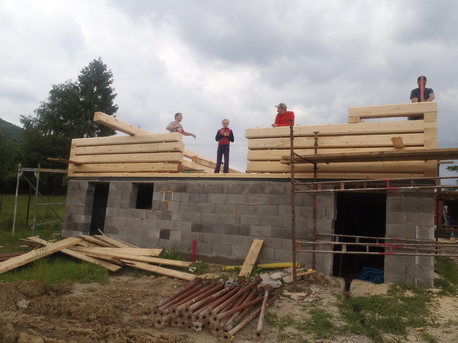 Náš veľký sen o drevenom domčeku! - tu bude ešte velikááánska teraska :-)