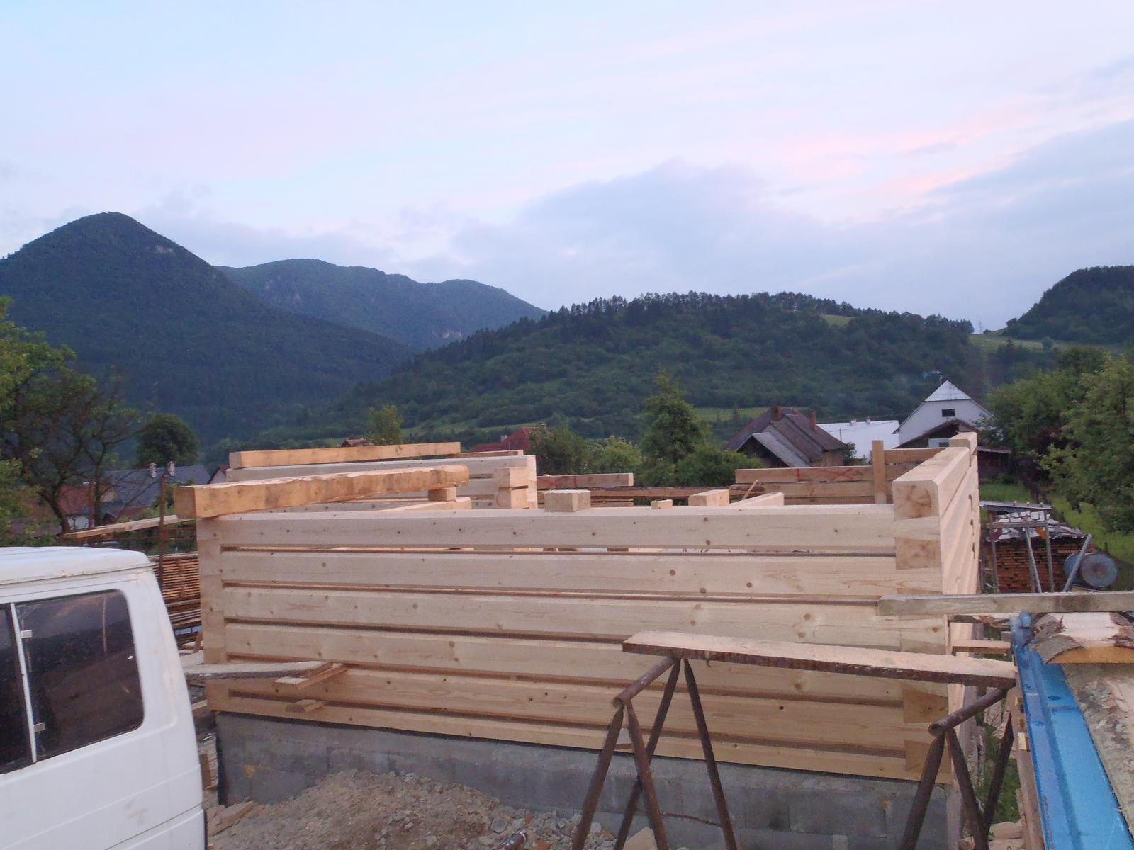Náš veľký sen o drevenom domčeku! - 3 deň od začatia
