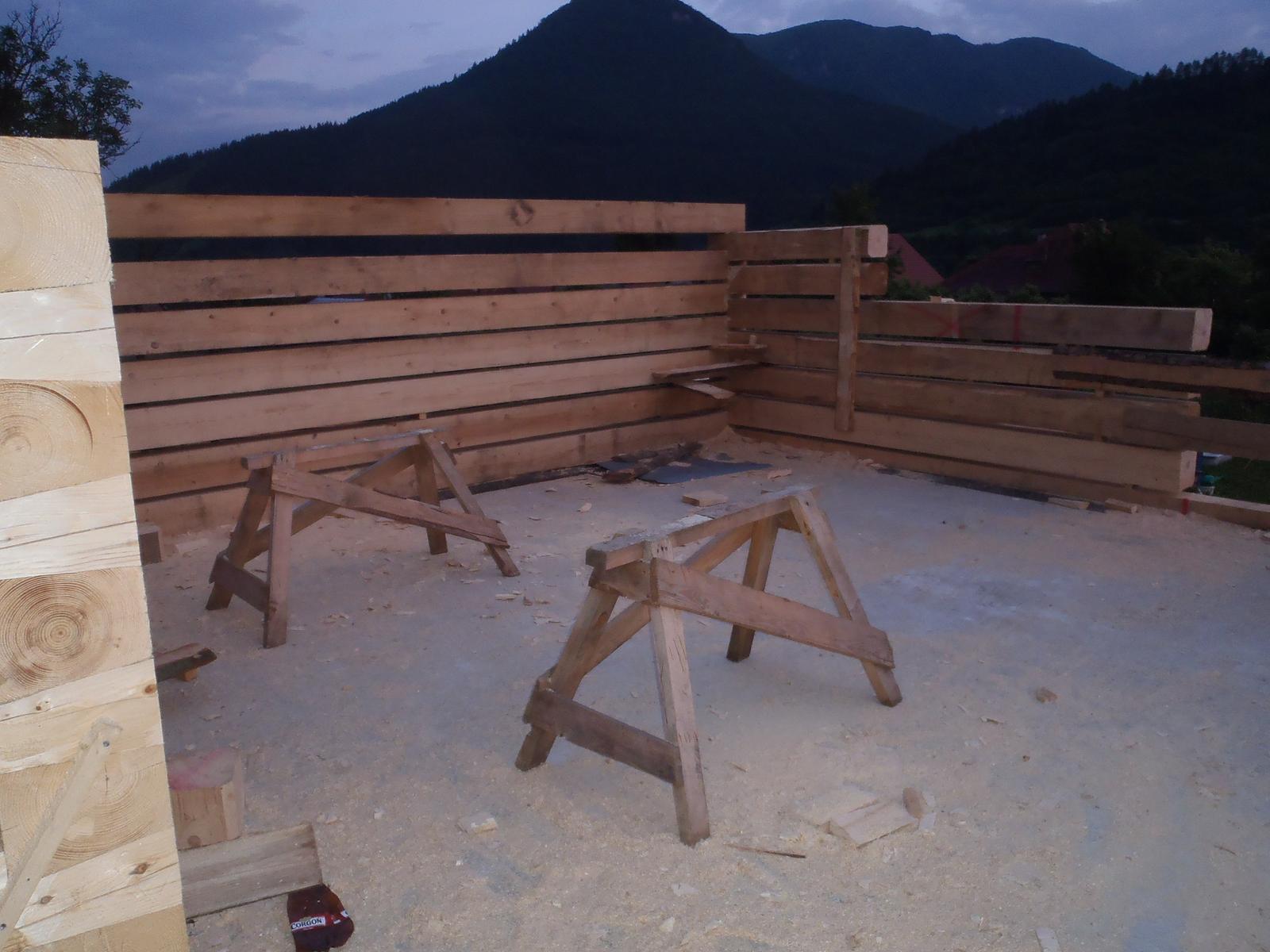 Náš veľký sen o drevenom domčeku! - Tu bude obyvačka