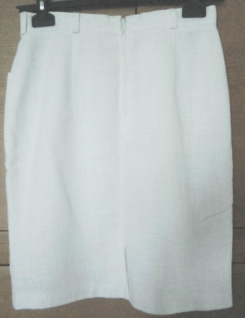 Bílá pouzdrová sukně - Obrázek č. 2
