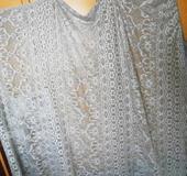 Lurexový stříbrný pléd, XL