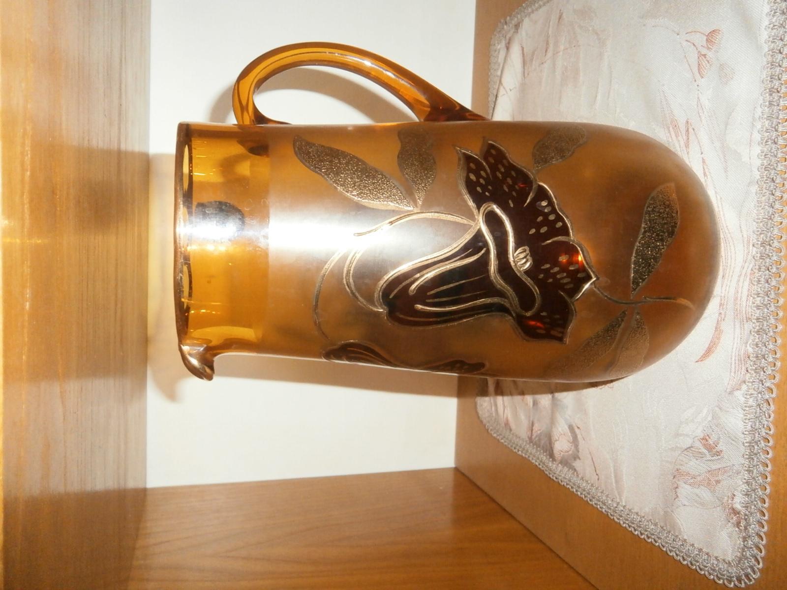 Souprava ze skla jantarové barvy  - Obrázek č. 2