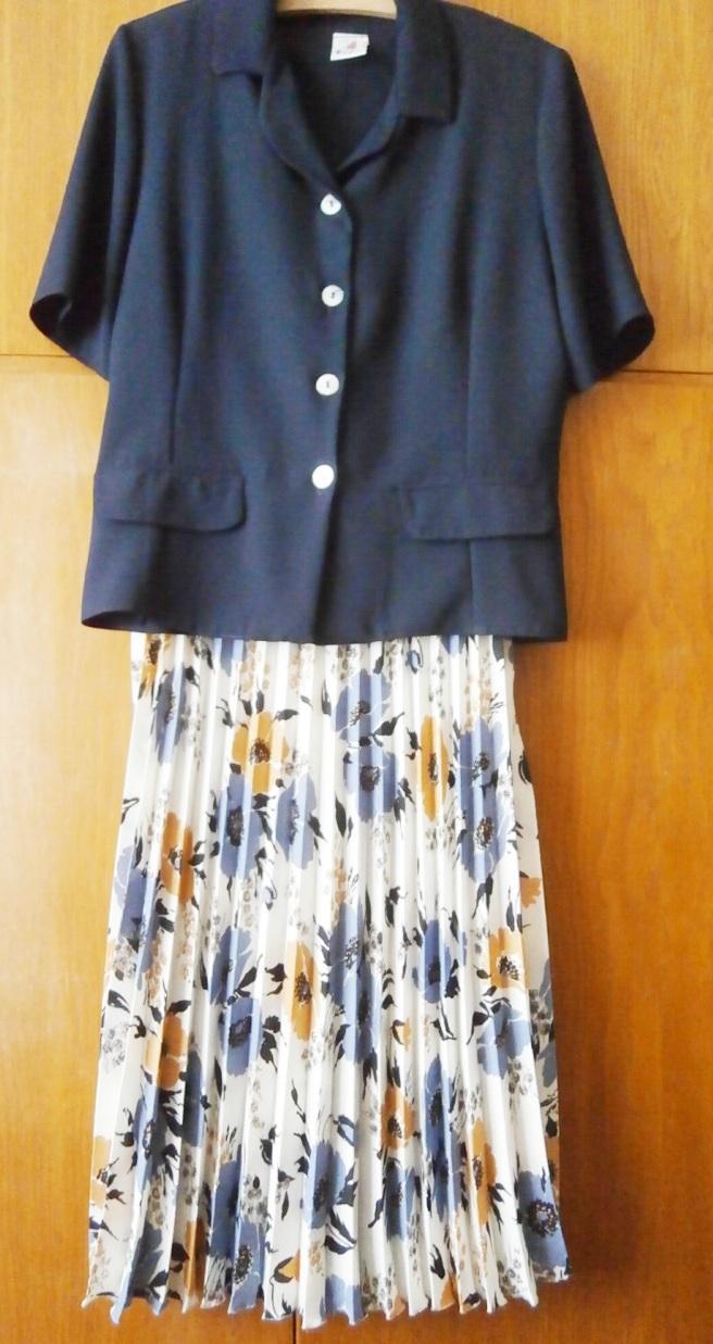 Plisovaná sukně v midi délce - Obrázek č. 1