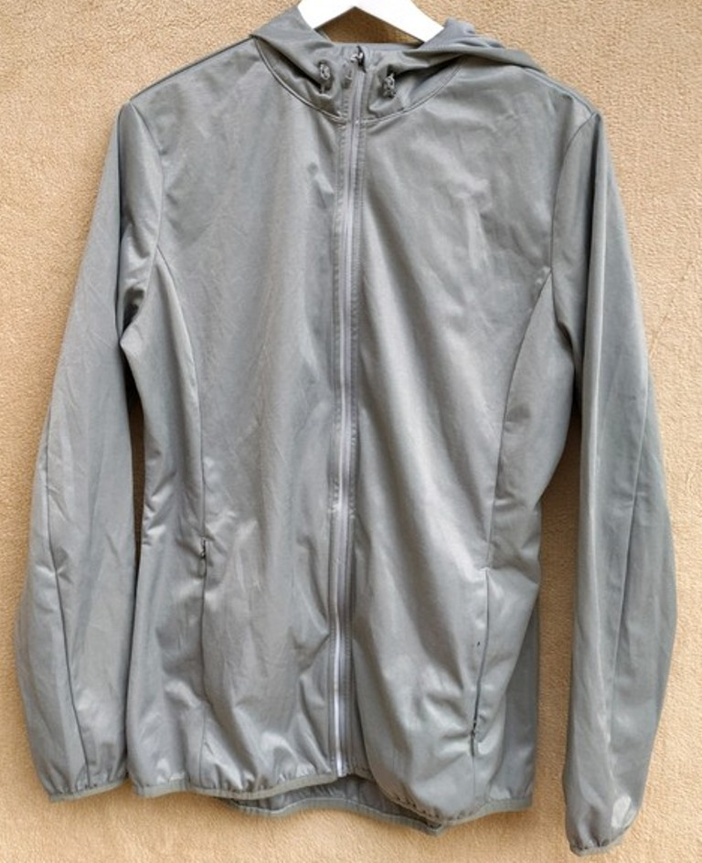 Mikina - bunda stříbrná - Obrázek č. 1