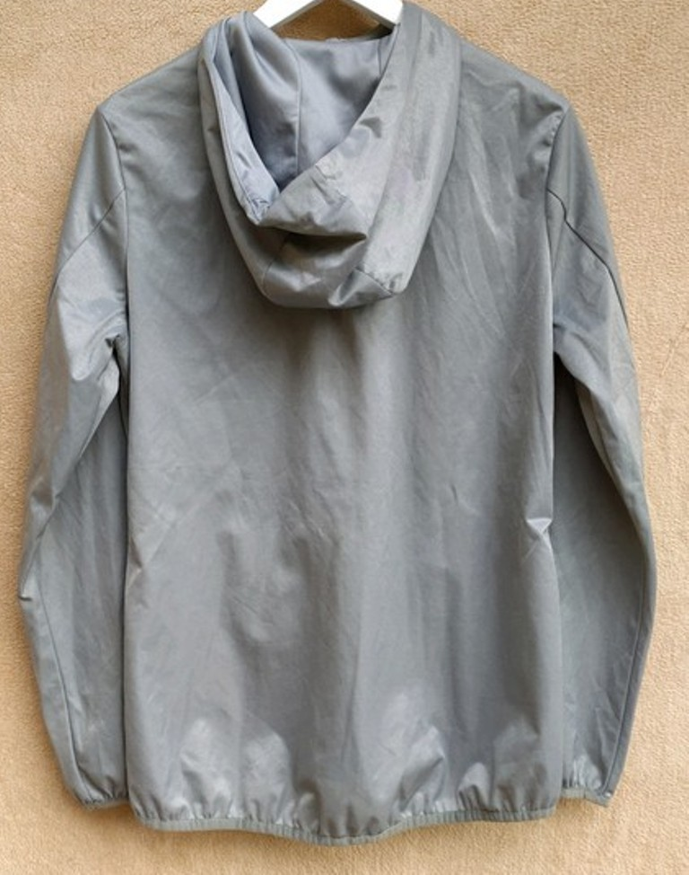 Mikina - bunda stříbrná - Obrázek č. 2