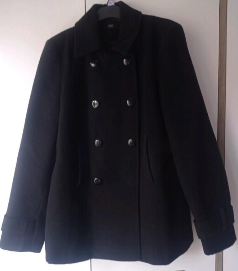 Dámský černý kabát - Obrázek č. 1