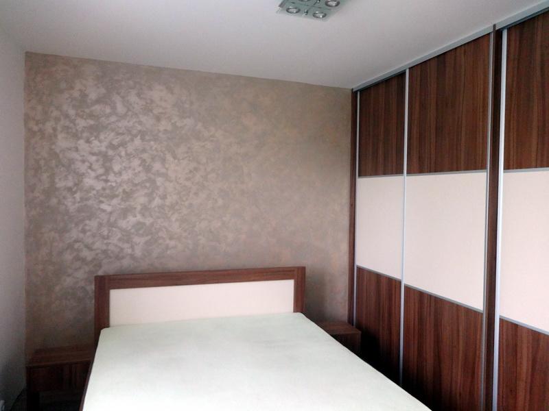 Dekorační stěrky a omítky - realizace - Marcopolo, ložnice bytu, Brno  http://www.barvy-sanmarco.cz/all-portfolio-list/marcopolo/
