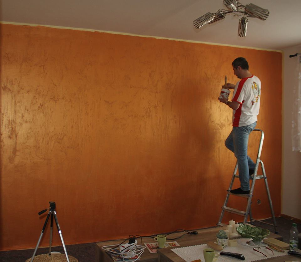 Dekorační stěrky a omítky - realizace - Dekorační nátěr Marcopolo od BARVY SAN MARCO