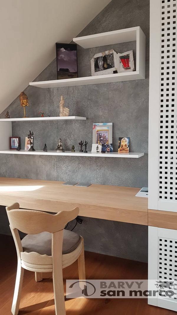 Byt s betonovou stěrkou - Betonová stěrka od Barvy San Marco