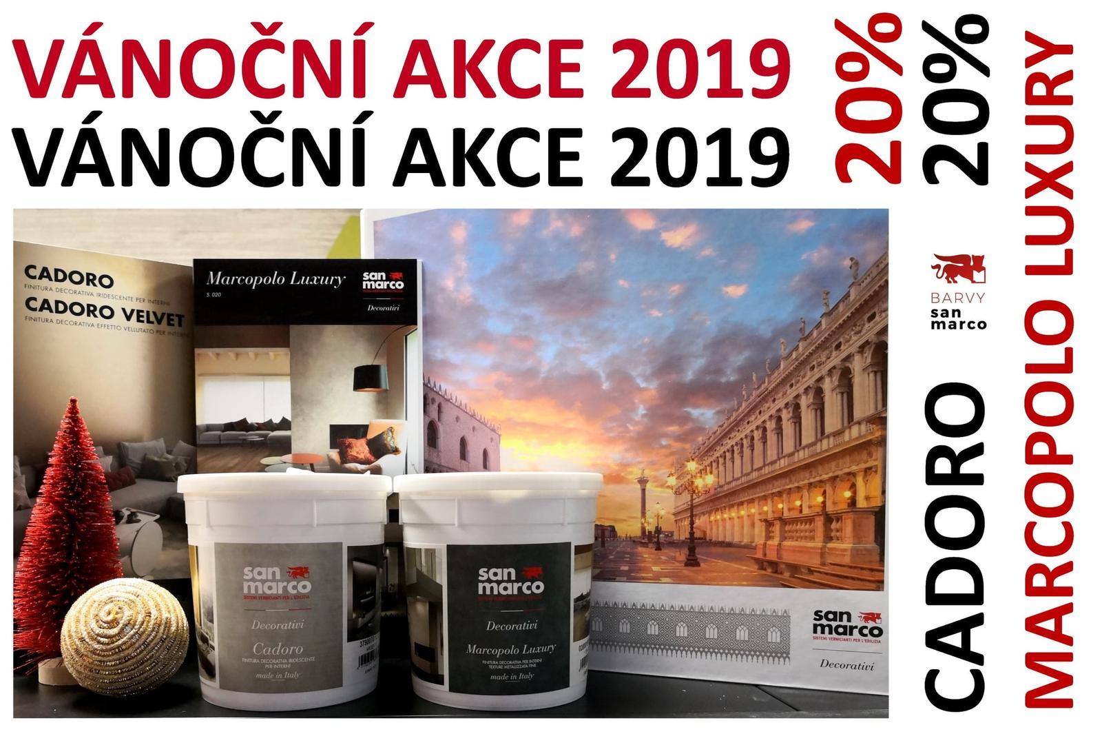 Vánoční akce 2019! - Akce trvá od 16. do 18.12.2019 včetně, nebo do vyprodání zásob. https://www.eshopsanmarco.cz/