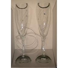 Svadobné poháre, gravírované so Swarovského kryštálmi