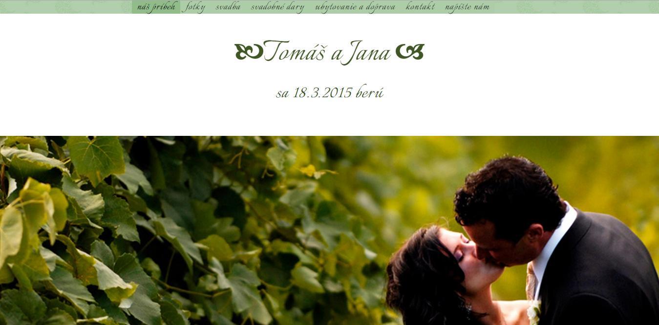 Svadobná web stránka - Obrázok č. 2