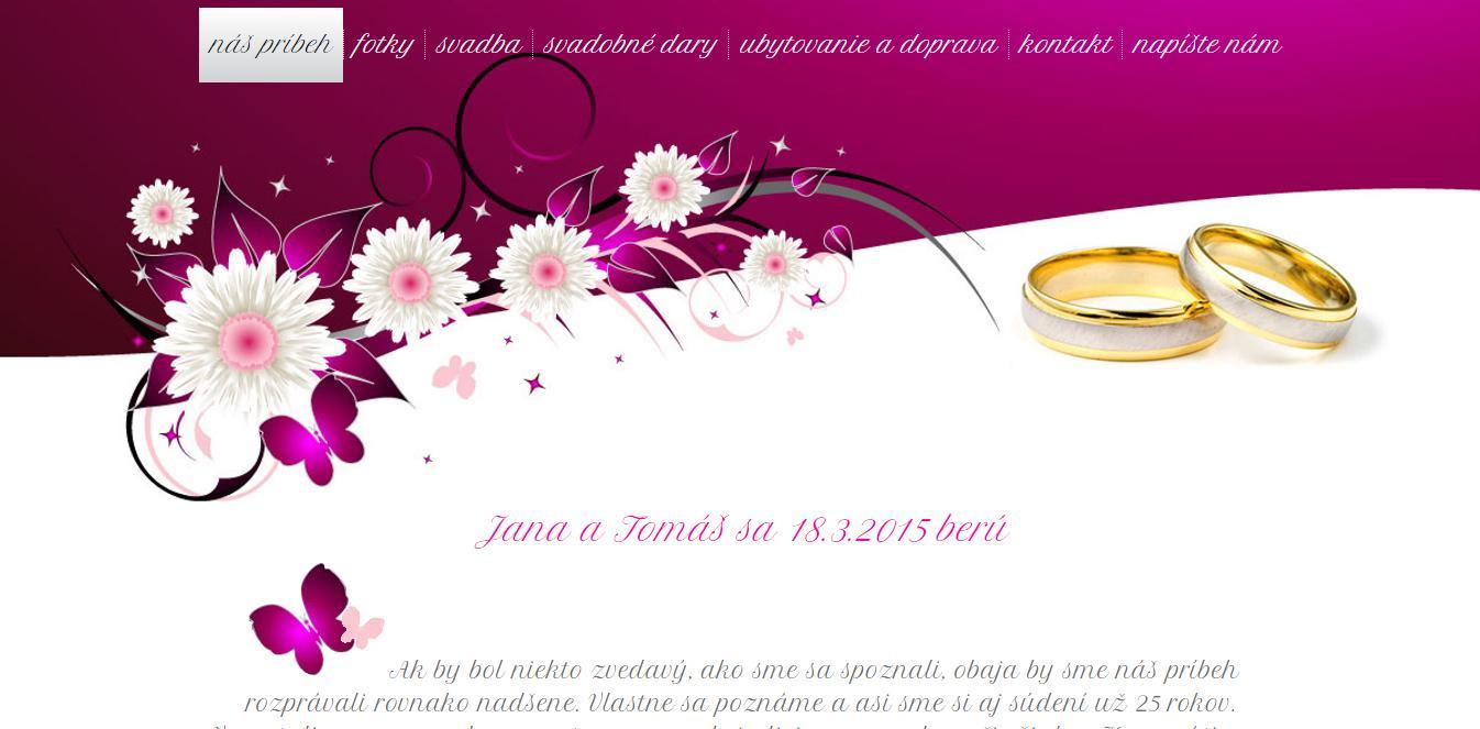 Svadobná web stránka - Obrázok č. 3