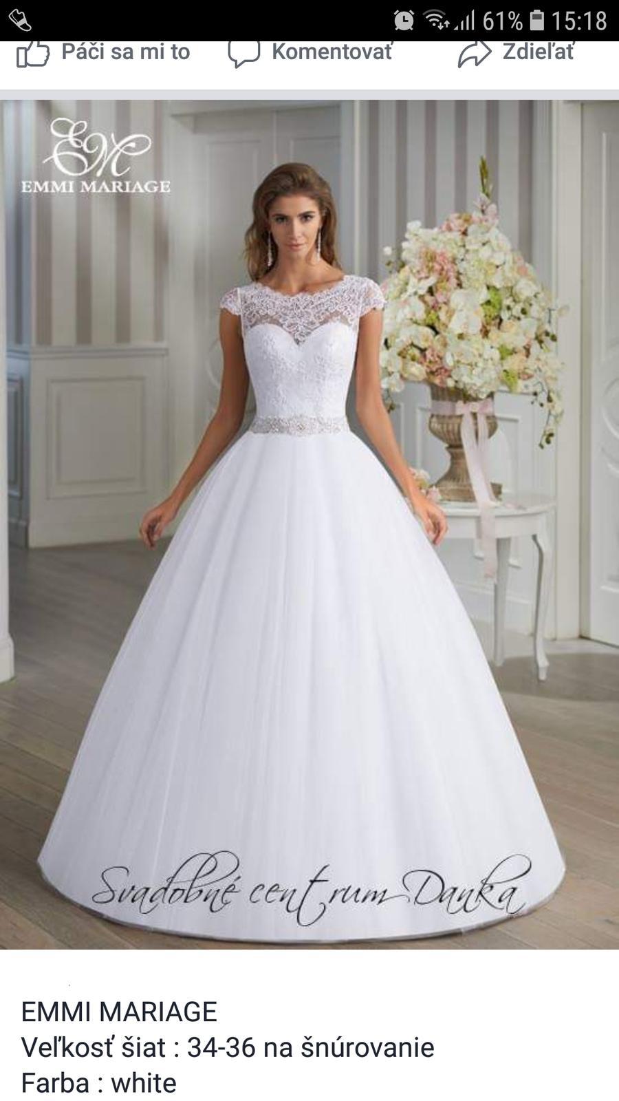 Emmi mariage svad. šaty - Obrázok č. 1