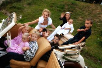 Tooooľkoto detí sme mali na svadbe! A to ešte zďaleka nie sú všetky... :-)