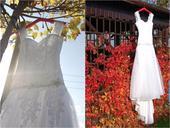 Originální svatební šaty podtrhující postavu 36, 38