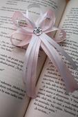 Svadobné pierko pre rodiča jemná ružová pastelová,