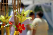 umělé dekorační květy,