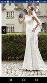 Romantické, jemné svadobné šaty, 36